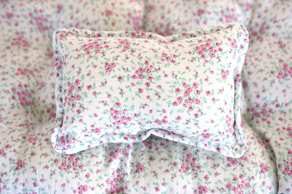 Mattress and Pillow - Ditsy Floral-Newborn Photography Props
