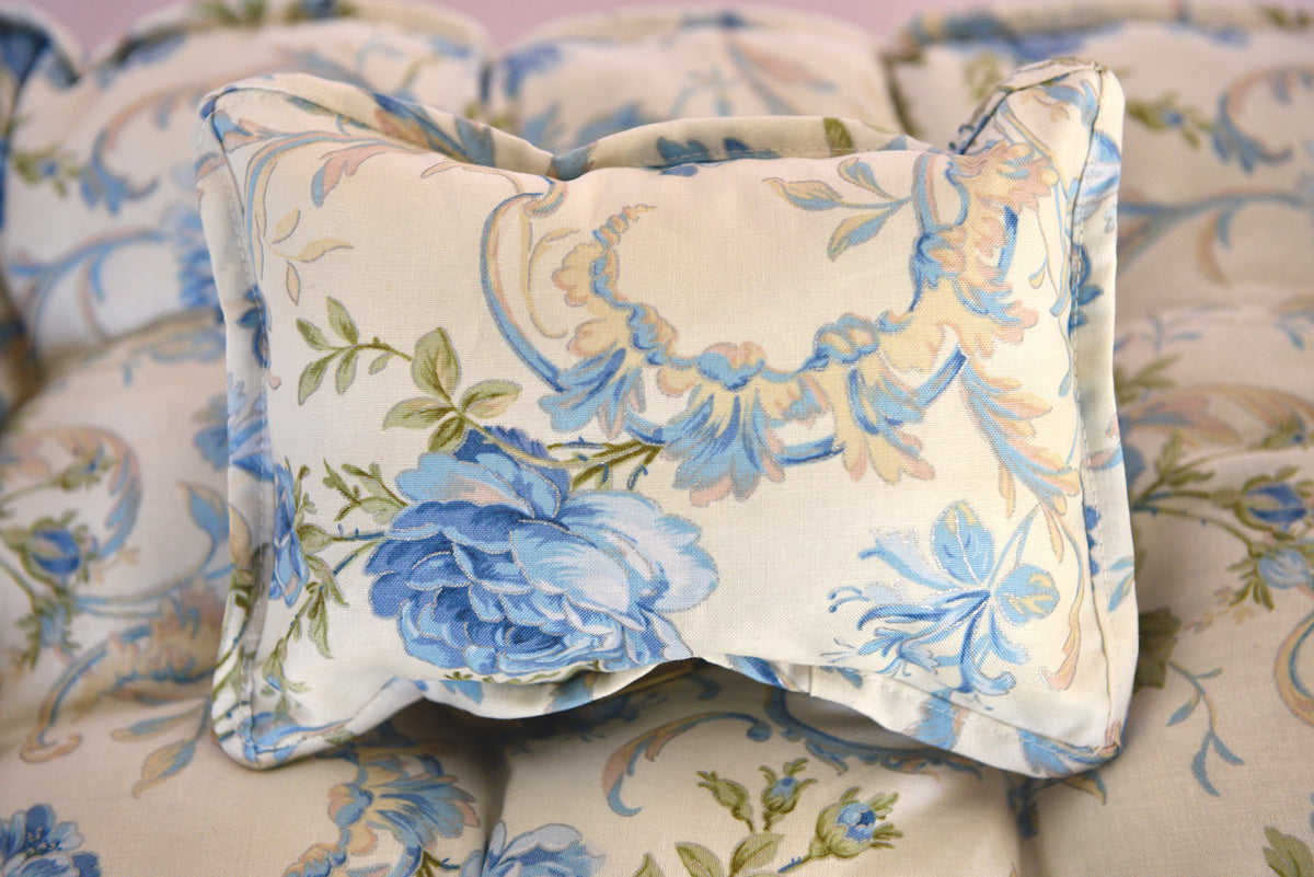 Mattress Set - Blue Flowers and Scrolls