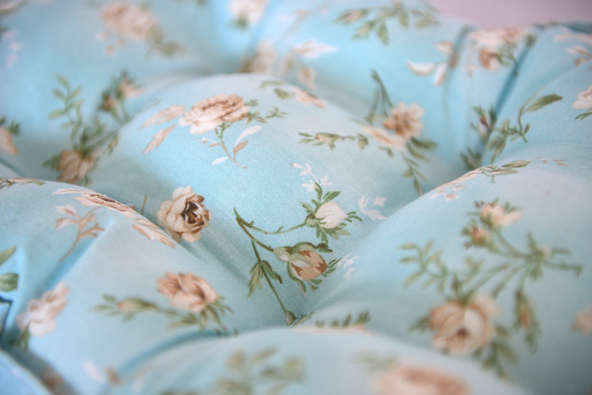SET Mattress and Pillow - Blue Tossed Flower Buds-Newborn Photography Props