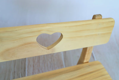 Park Bench - Heart Center - Natural