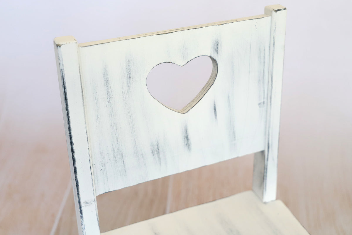 Small Wooden Harlow Chair - Heart Center