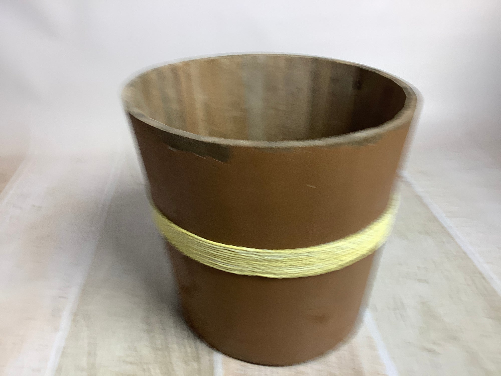 Rustic Bucket - 12in - Brown (AS IS ITEM #01)