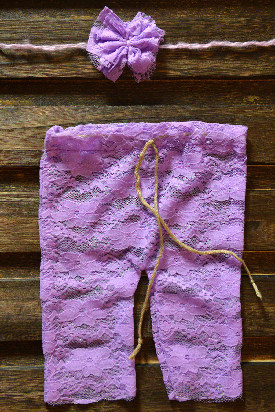 SET Lace Pants and Headband - Lilac