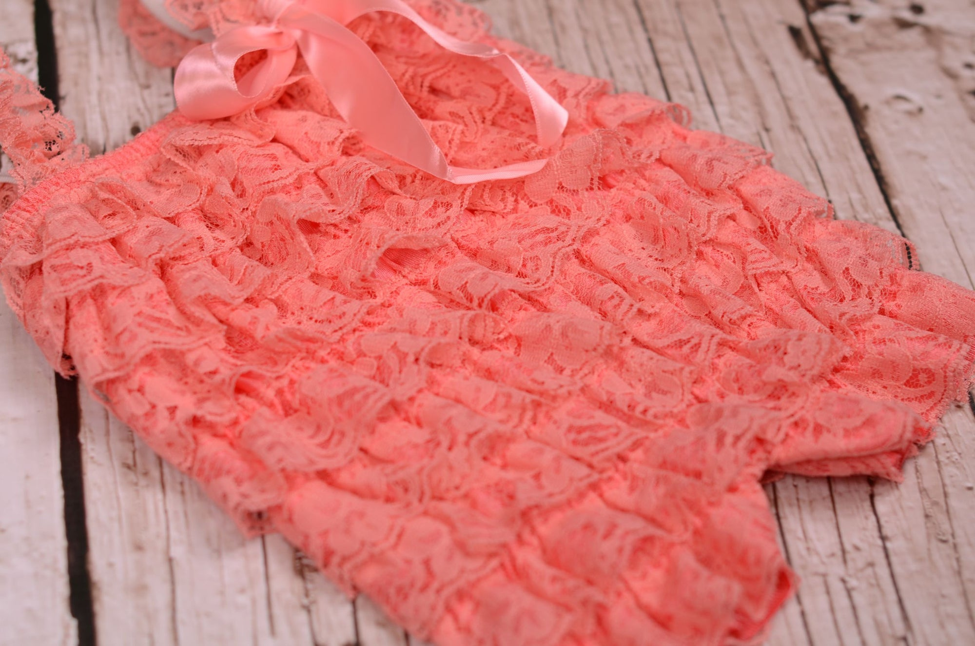 Lace Romper - Dark Pink-Newborn Photography Props