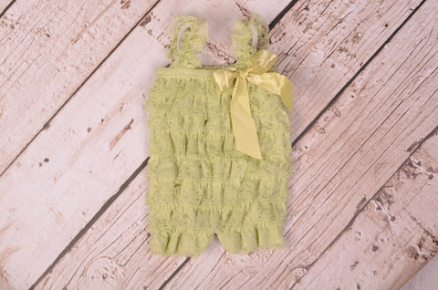 Lace Romper - Baby Green