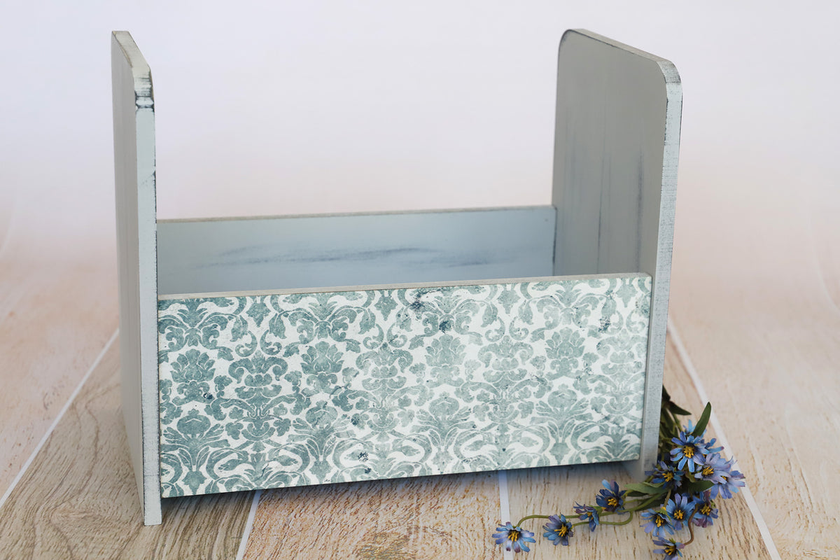 Vintage Crib - Straight - Light Blue Printed Side