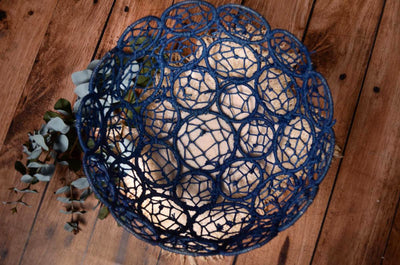 Mesh Bowl - Blue-Newborn Photography Props