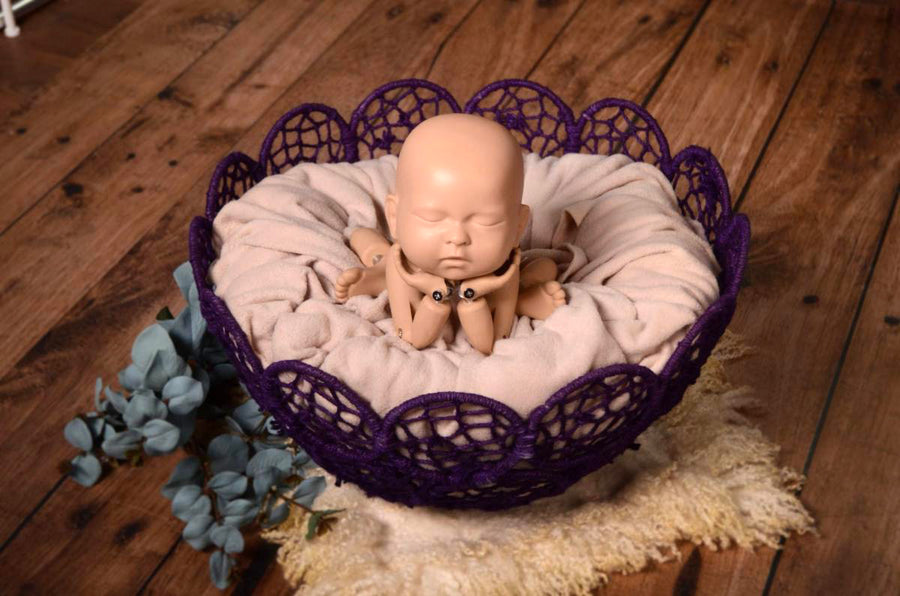 Mesh Bowl - Purple-Newborn Photography Props