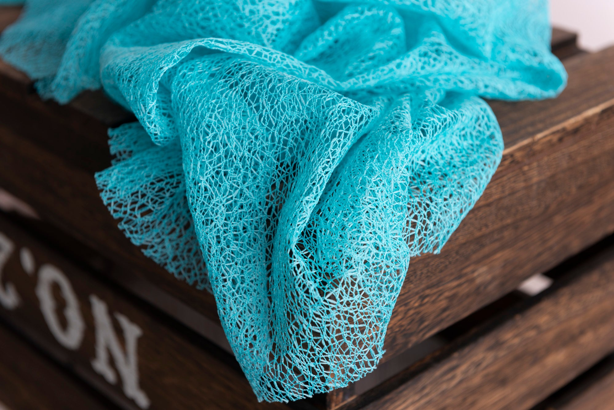 Mesh Lace Baby Wrap - Turquoise