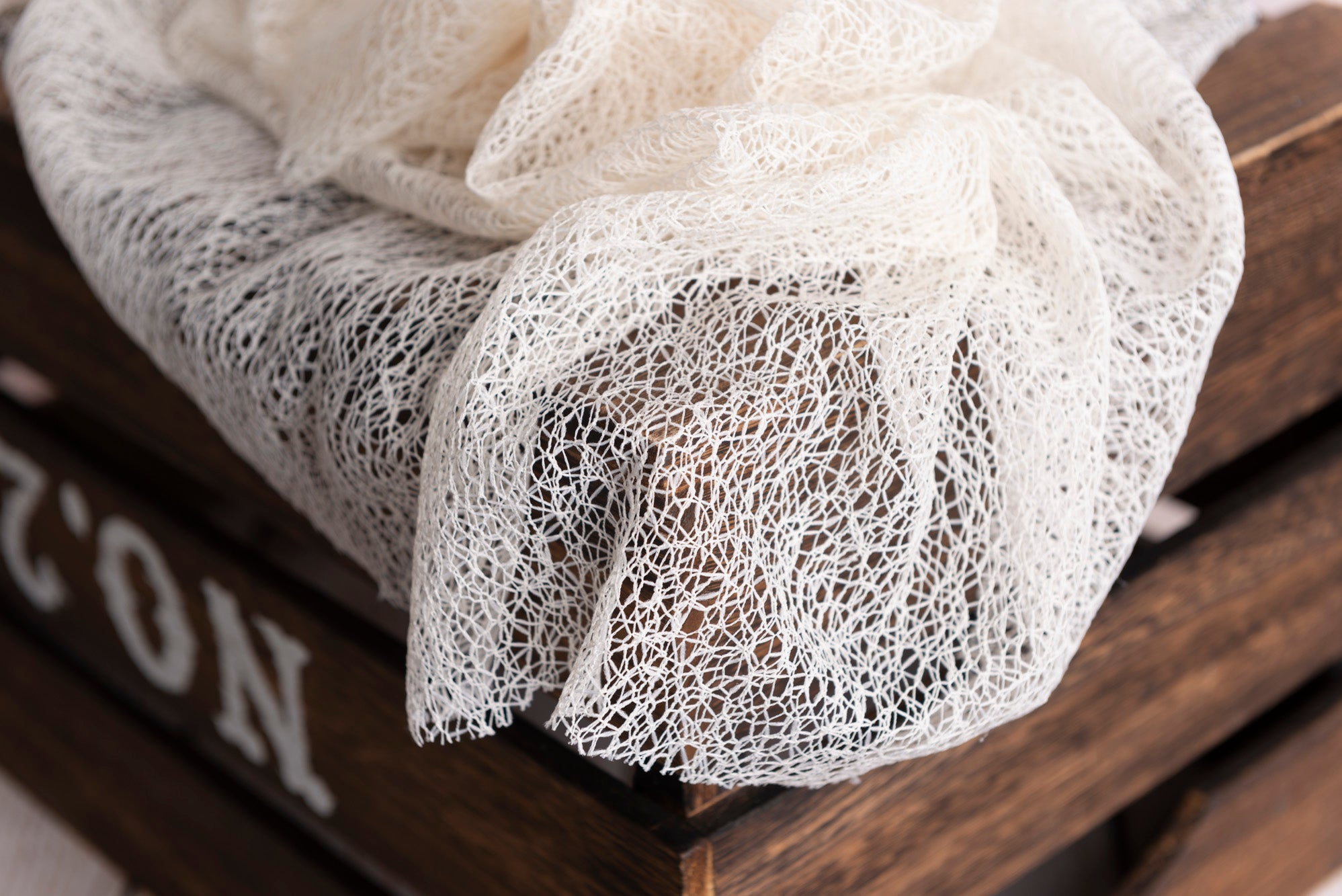Mesh Lace Baby Wrap - Ivory