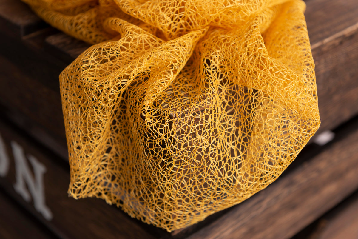 Mesh Lace Baby Wrap - Yolk Yellow
