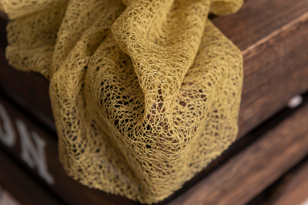 Mesh Lace Baby Wrap - Gold