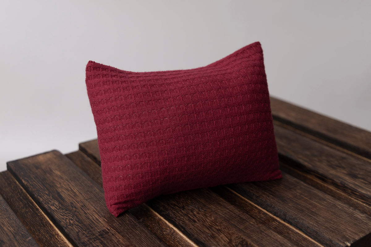 Mini Pillow with Cover - Perforated - Cranberry