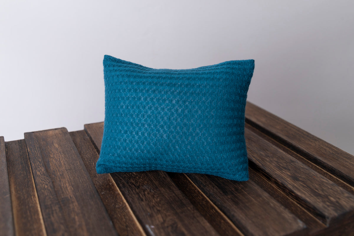 Mini Pillow with Cover - Perforated - Teal