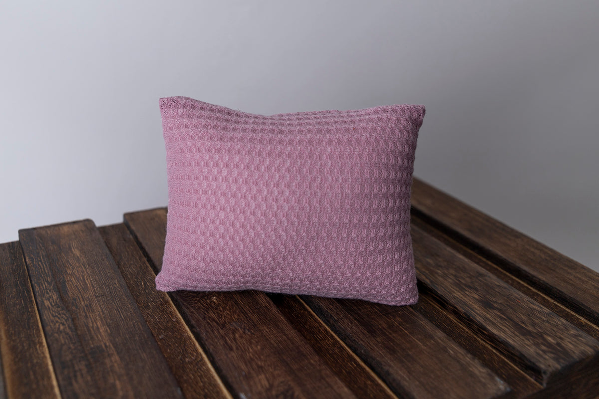 Mini Pillow with Cover - Perforated - Mauve