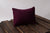 Mini Pillow with Cover - Perforated - Burgundy