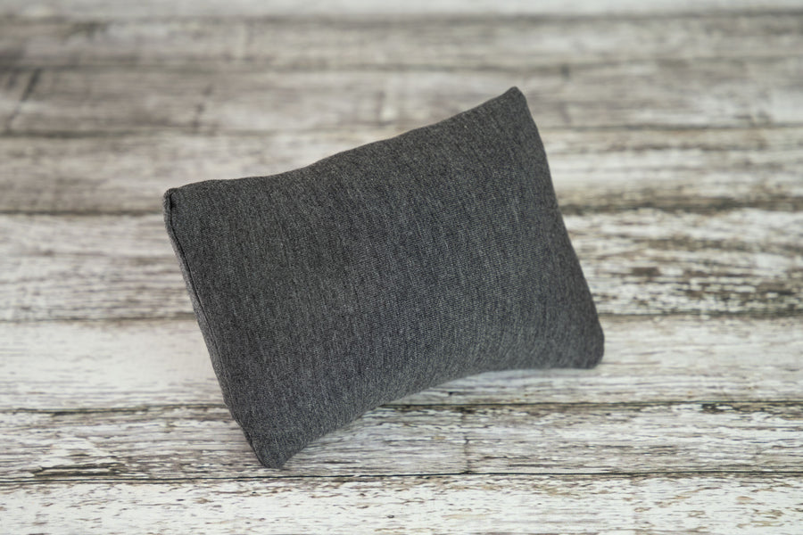Mini Pillow with Cover - Smooth - Twotone Charcoal