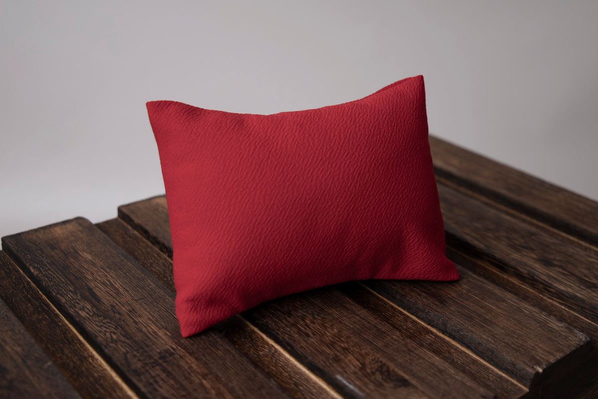 Mini Pillow with Cover - Textured - Red