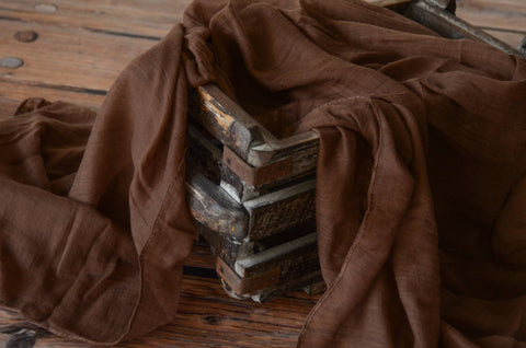 Muslin Baby Wrap - Dark Brown