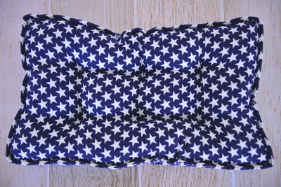 SET Mattress and Pillow - Flannel Navy Stars