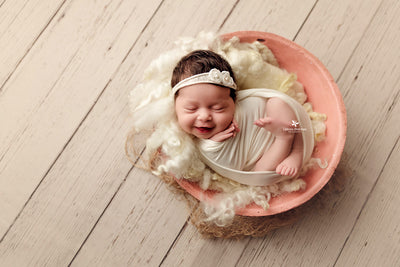 Vintage Bowl - Pink-Newborn Photography Props