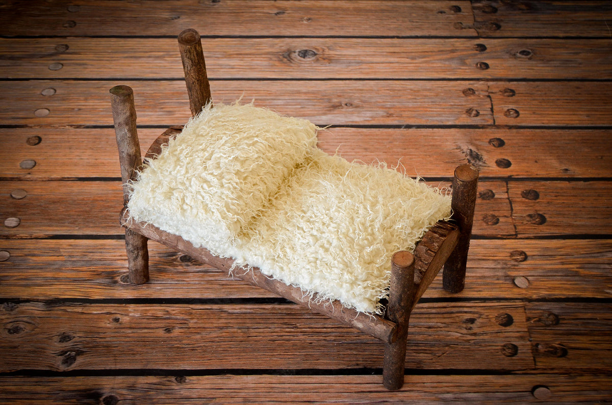 Rustic Bed - Log Headboard-Newborn Photography Props
