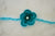 Mohair Flower Headband - Peacock Green