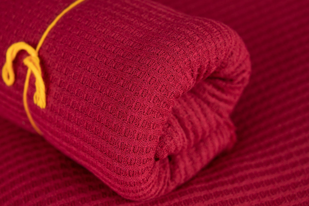 Bean Bag Fabric - Perforated - Cranberry