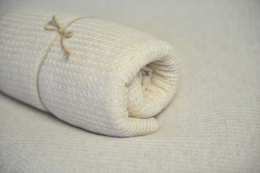 Bean Bag Fabric - Perforated - Ivory