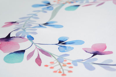 Printed Fabric - Blue Buttercup