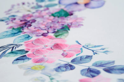 Printed Fabric - Violets
