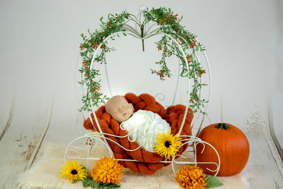 Wire Pumpkin Carriage - Model 2