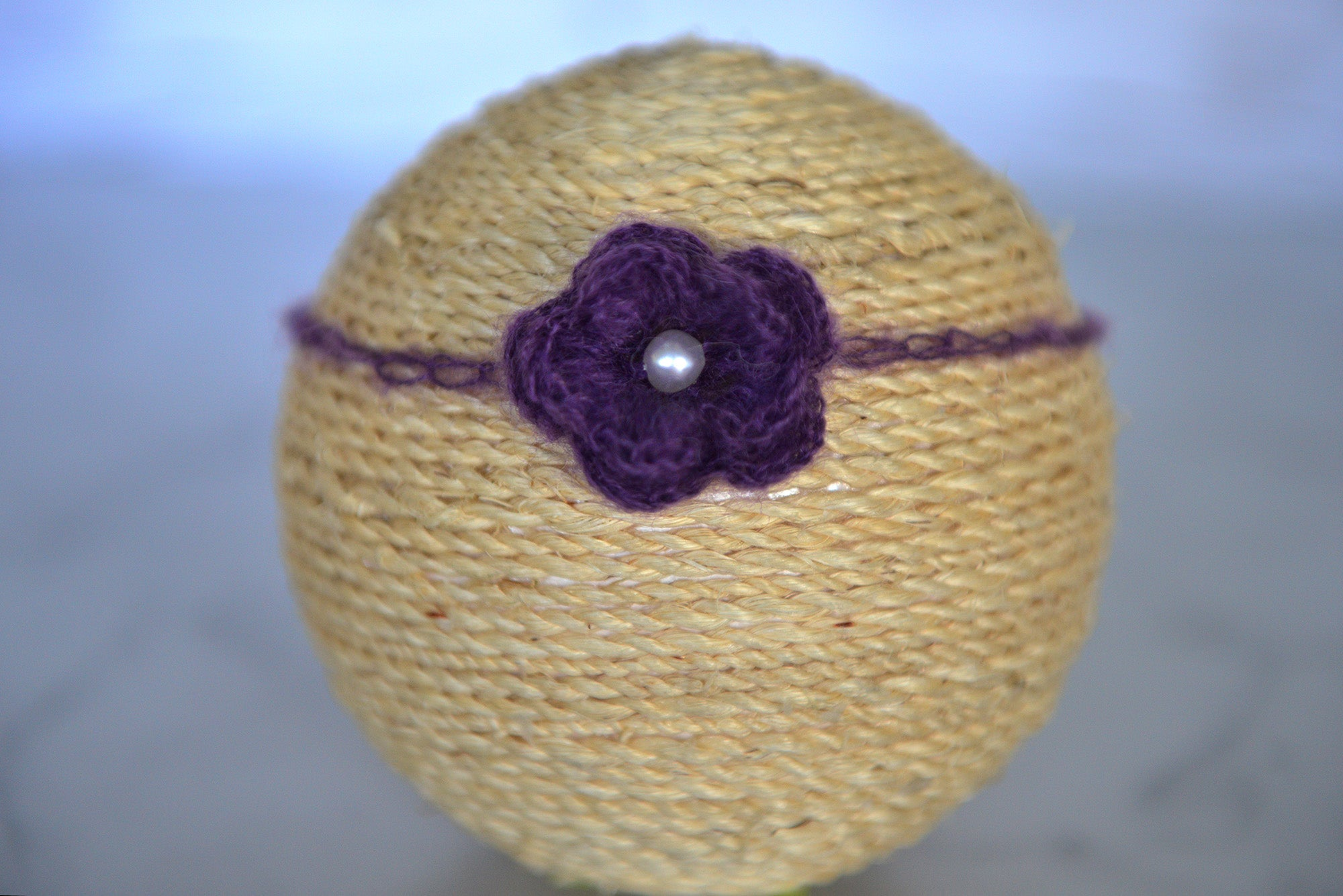 Mohair Flower Headband - Purple