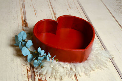 PRE-ORDER Vintage Heart Bowl - Red