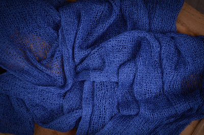 Stretch Knit Baby Wrap - Intense Blue-Newborn Photography Props