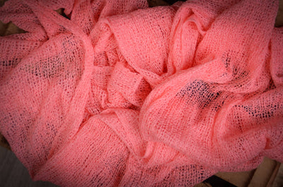 Stretch Knit Baby Wrap - Dark Pink-Newborn Photography Props