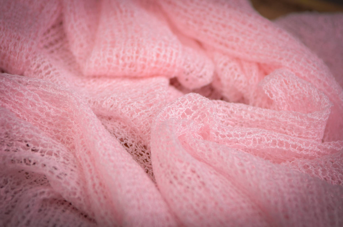 Stretch Knit Baby Wrap - Quartz Pink-Newborn Photography Props