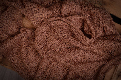 Stretch Knit Baby Wrap - Brown-Newborn Photography Props