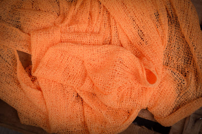 Stretch Knit Baby Wrap - Light Orange