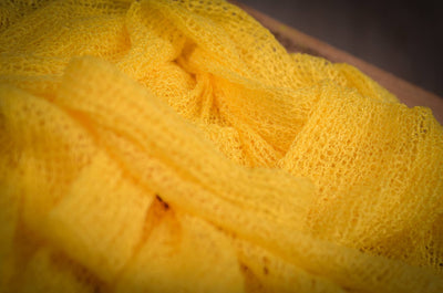 Stretch Knit Baby Wrap - Yellow-Newborn Photography Props