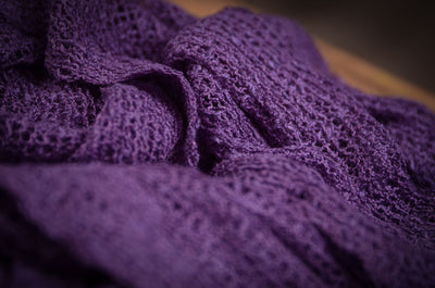 Stretch Knit Baby Wrap - Violet-Newborn Photography Props