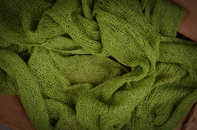 Stretch Knit Baby Wrap - Brasil Green-Newborn Photography Props