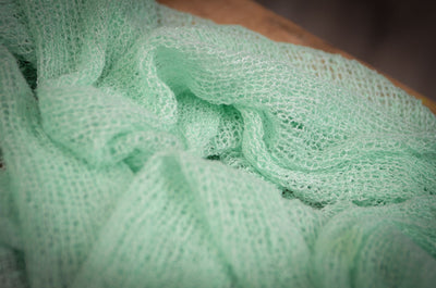 Stretch Knit Baby Wrap - Mint Green-Newborn Photography Props