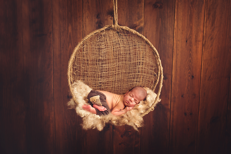 Round Rustic Swing-Newborn Photography Props