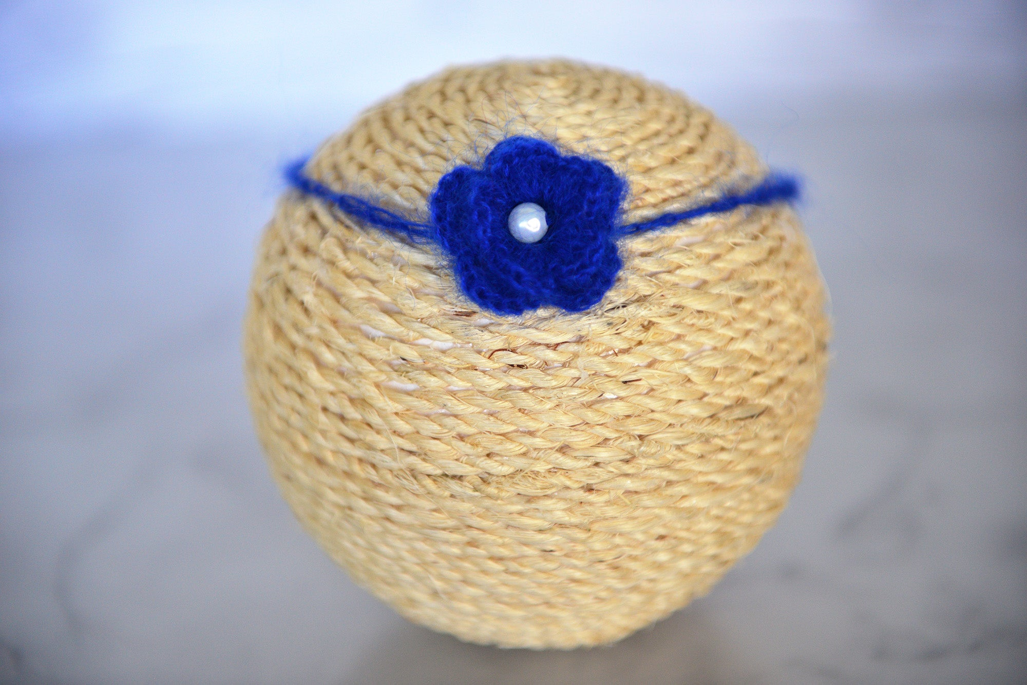 Mohair Flower Headband - Royal Blue