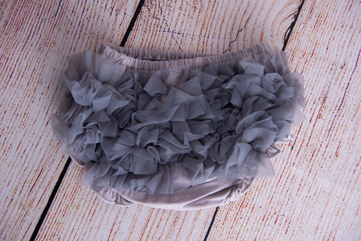Ruffled Pants - Gray