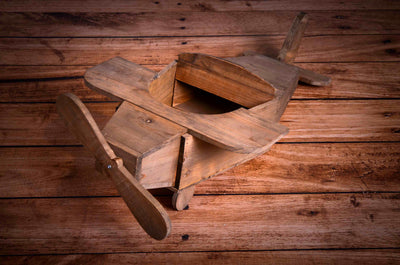 Rustic Airplane Newborn Photography Prop