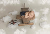 Rustic Airplane Baby Photo Prop