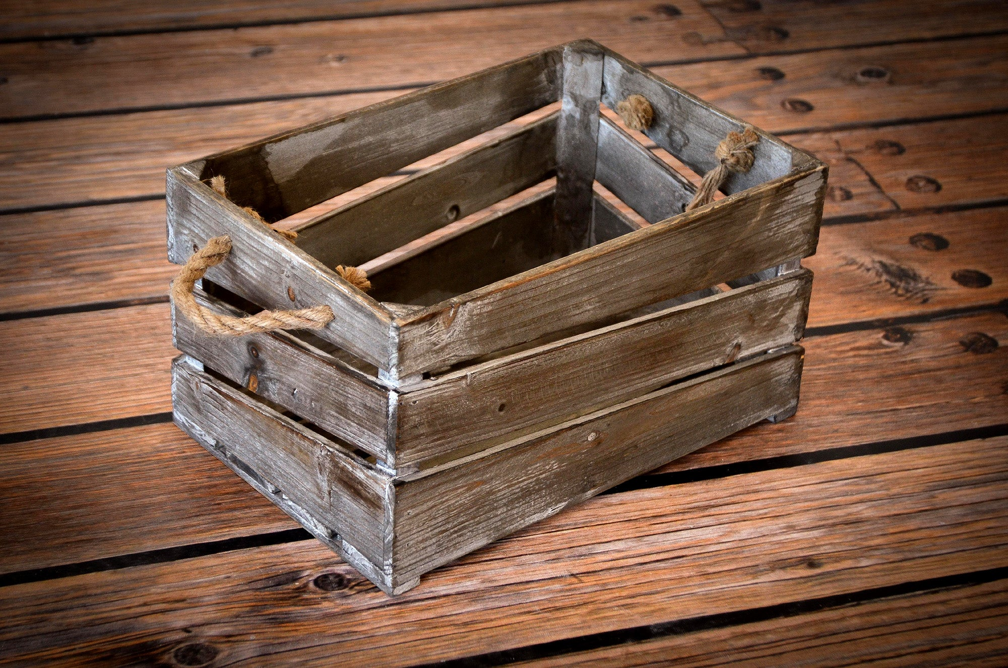Rustic Box - Brown-Newborn Photography Props