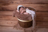 Rustic Bucket - 12in - Brown-Newborn Photography Props